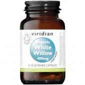 Viridian Organic White Willow 400mg Veg Caps 30