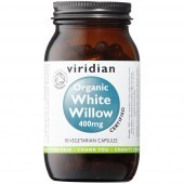 Viridian Organic White Willow 400mg Veg Caps 90