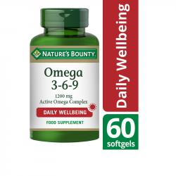 Nature's Bounty Omega 3-6-9 1200mg Active Omega Complex Softgels 60