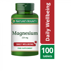 Nature's Bounty Magnesium 250mg Tablets 100