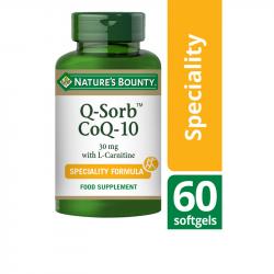 Nature's Bounty Q-Sorb CoQ-10 30 mg with L-Carnitine Softgels 60