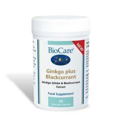 Biocare Ginkgo Plus Blackcurrant Capsules 60