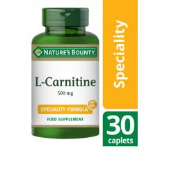 Nature's Bounty L-Carnitine 500mg Caplets 30