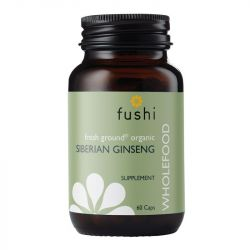 Fushi Wellbeing Wild Crafted Siberian Ginseng Root 333mg Veg Caps 60