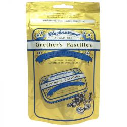Grether's Blackcurrant Pastilles Sugar Free Pouch 100g