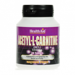 HealthAid Acetyl-L-Carnitine 550mg tablets 30