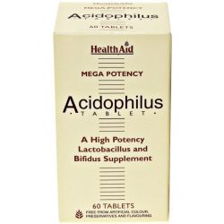 HealthAid Acidophilus 100million +FOS Tablets 60