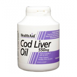 HealthAid Cod Liver Oil 550mg Capsules 180