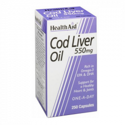 HealthAid Cod Liver Oil 550mg Capsules 250