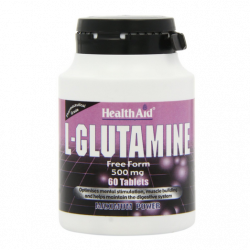 HealthAid L-Glutamine 500mg tablets 60