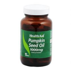 HealthAid Pumpkin Seed Oil 1000mg Capsules 60