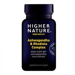 Higher Nature Ashwagandha & Rhodiola Complex Caps 30