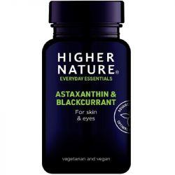 Higher Nature Astaxanthin & Blackcurrant Vegetable Capsules 30