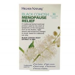 Higher Nature Black Cohosh Menopause Relief Tabs 30