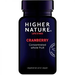 Higher Nature Cranberry Extract 500mg Vegetable Capsules 90