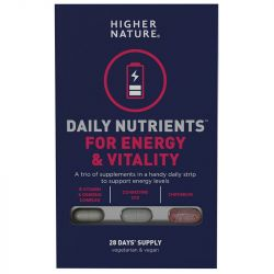 Higher Nature Daily Nutrients for Energy & Vitality Caps 28