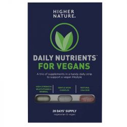 Higher Nature Daily Nutrients for Vegans Caps 28