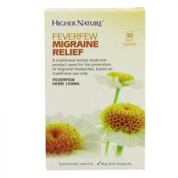 Higher Nature Feverfew Migraine Relief Capsules 30