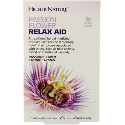 Higher Nature Passion Flower Relax Aid Tablets 30