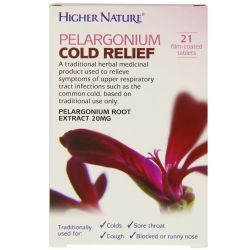 Higher Nature Pelargonium Cold Relief Tablets 21