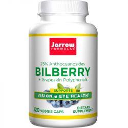 Jarrow Formulas Bilberry + Grapeskin Polyphenols Vegicaps 120