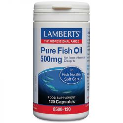 Lamberts Pure Fish Oil 500mg Capsules 120