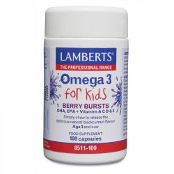 Lamberts Omega-3 for Kids Berry Chew Caps 100