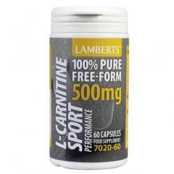 Lamberts Performance L-Carnitine 500mg Capsules 60
