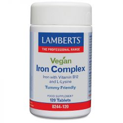 Lamberts Vegan Iron Complex Tablets 120