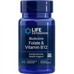Life Extension BioActive Folate & Vitamin B12 Vegicaps 90