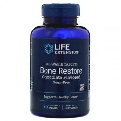 Life Extension Bone Restore Chocolate Chew Tabs 60