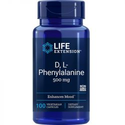 Life Extension D L-Phenylalanine 500mg Vegicaps 100