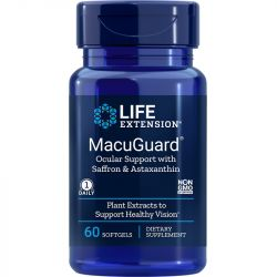 Life Extension MacuGuard Ocular Support with Saffron & Astaxanthin Softgels 60