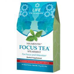 Life Extension Neumentix Focus Tea Spearmint stick packs 14