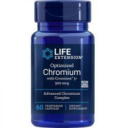Life Extension Optimized Chromium with Crominex 3+ 500mcg Vegicaps 60