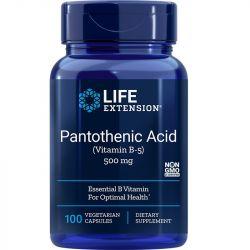 Life Extension Pantothenic Acid (Vitamin B-5) 500mg Vegicaps 100