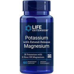 Life Extension Potassium with Extend-Release Magnesium Vegicaps 60