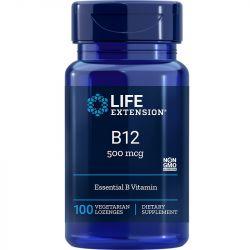 Life Extension Vitamin B12 500mcg Lozenges 100
