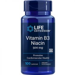 Life Extension Vitamin B3 Niacin 500mg Caps 100