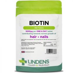 Lindens Biotin 5mg Tablets 360