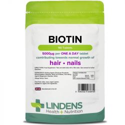 Lindens Biotin 5mg Tablets 90