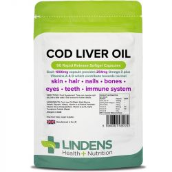 Lindens Cod Liver Oil 1000mg Capsules 90