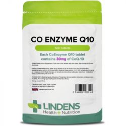 Lindens CoEnzyme Q10 30mg Tablets 120