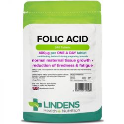 Lindens Folic Acid 400mcg Tablets 240