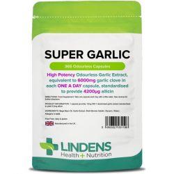 Lindens Garlic 6000mg Capsules 365