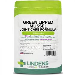 Lindens Green Lipped Mussel 500mg Capsules 360
