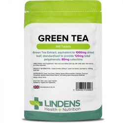 Lindens Green Tea 1000mg tablets 100