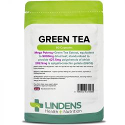 Lindens Green Tea 9000mg (203mg EGCG) Capsules 60