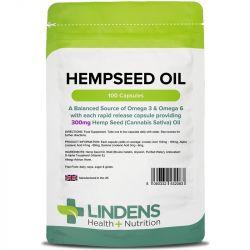 Lindens Hempseed Oil 300mg Capsules 100