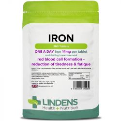 Lindens Iron 14mg Tablets 360